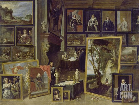View of the Gallery of Archduke Leopold in Brussels (Ii) Stretched Canvas Print
