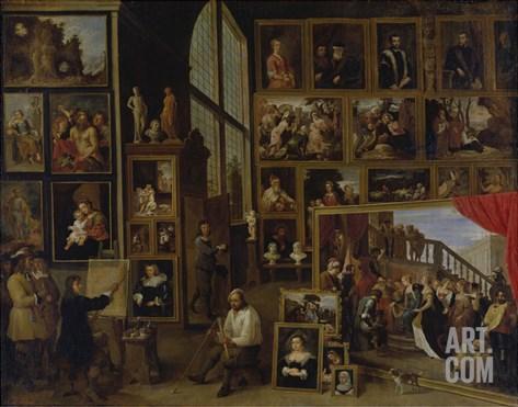 Ansicht Der Galerie des Erherzogs Leopold Wilhelm in Bruessel (I.) Stretched Canvas Print