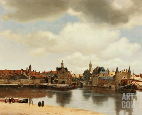 View of Delft, about 1660 Stretched Canvas Print