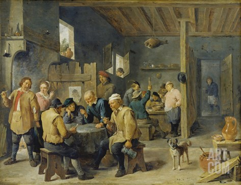 Tavern Scene, 1643 Stretched Canvas Print