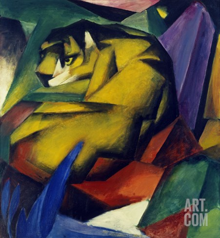 The Tiger, 1912 Stretched Canvas Print