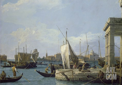 The Punta Della Dogana, about 1724/30 Stretched Canvas Print