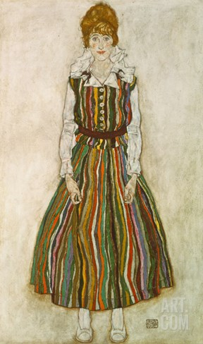 Edith Schiele, 1915 Stretched Canvas Print