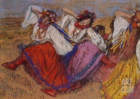 Russian Dancers, about 1895 Stretched Canvas Print