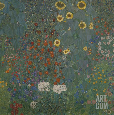 Farm Garden with Sunflowers, 1905/06 Stretched Canvas Print