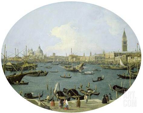 Venedig, Von S.Giorgio Maggiore Aus Gesehen Stretched Canvas Print
