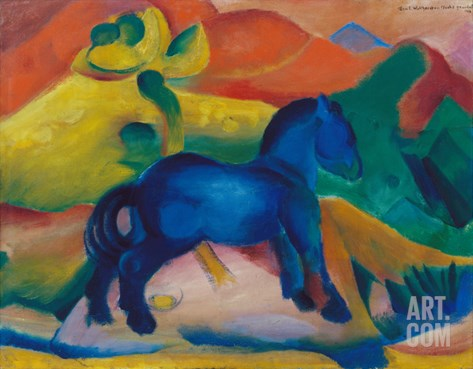 Blue Horsey, Children's Image, 1912 Stretched Canvas Print