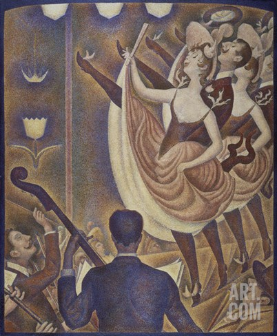 Le Chahut, 1890 Stretched Canvas Print