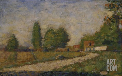 Landscape in the Surroundings of Paris, about 1883 Stretched Canvas Print
