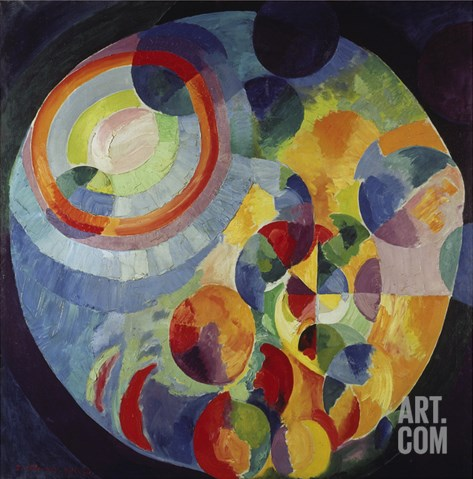 Circular Shapes, Sun and Moon, 1912/31 Stretched Canvas Print