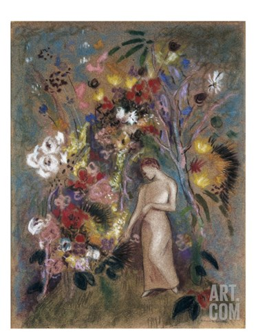 Woman in Flowers, 1904 Stretched Canvas Print