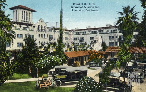 Riverside, California - Glenwood Mission Inn Court of the Birds Stretched Canvas Print