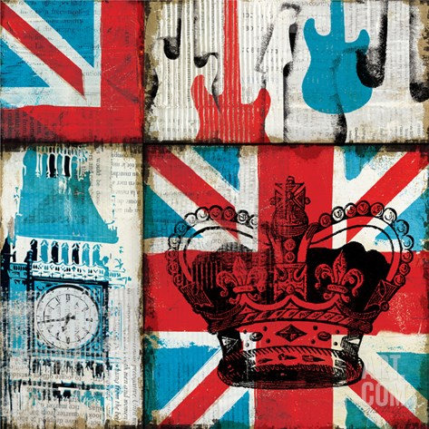British Rock I Stretched Canvas Print