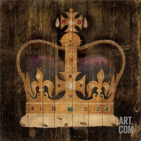 Regal Crown Stretched Canvas Print