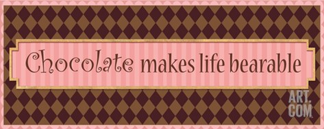 Chocolate makes life bearable Stretched Canvas Print