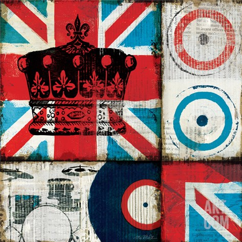 British Rock II Stretched Canvas Print