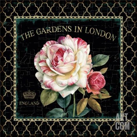 Garden View VII Stretched Canvas Print