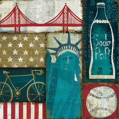 American Pop I Stretched Canvas Print