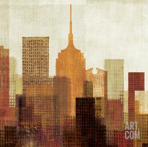 Summer in the City II Stretched Canvas Print