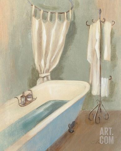 Steam Bath III Stretched Canvas Print