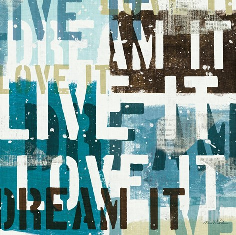 Live the Dream I Stretched Canvas Print