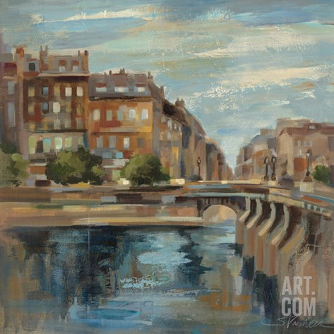 A Moment in Paris II Stretched Canvas Print