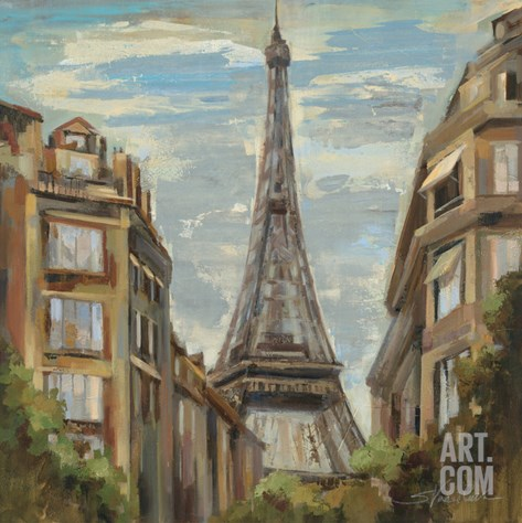A Moment in Paris I Stretched Canvas Print