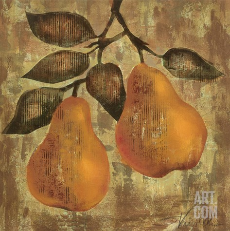 Pear Stretched Canvas Print