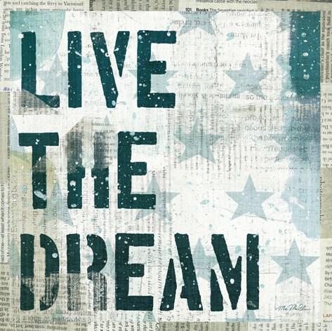 American Dream I Stretched Canvas Print