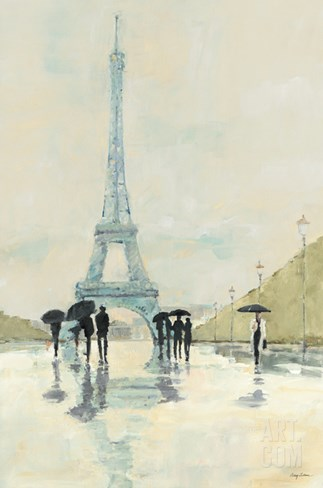 April in Paris Stretched Canvas Print