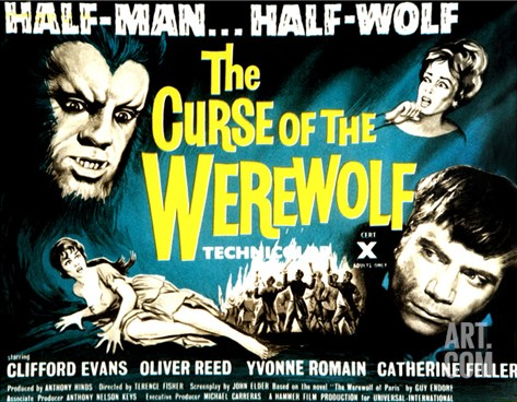 The Curse of the Werewolf, 1961 Stretched Canvas Print