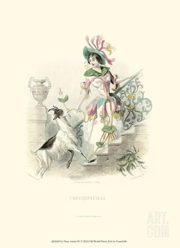 Le Fleur Animé IV Stretched Canvas Print