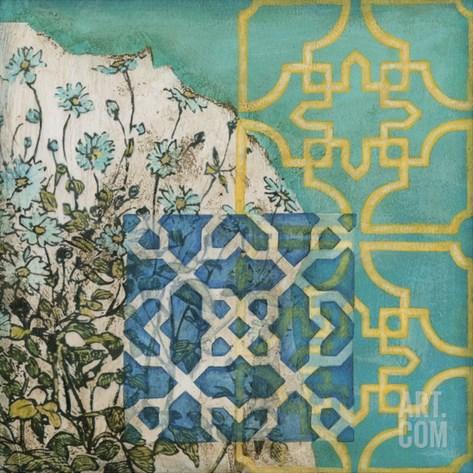 Artisan Garden II Stretched Canvas Print