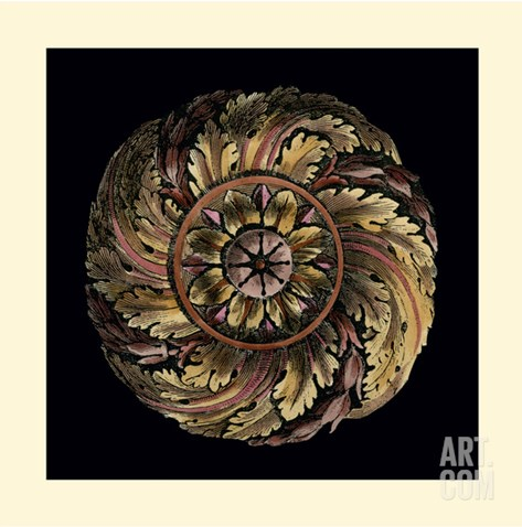 Small Classic Rosette IV Stretched Canvas Print