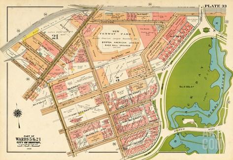 1938, Boston, Fenway Park, Massachusetts, United States Stretched Canvas Print