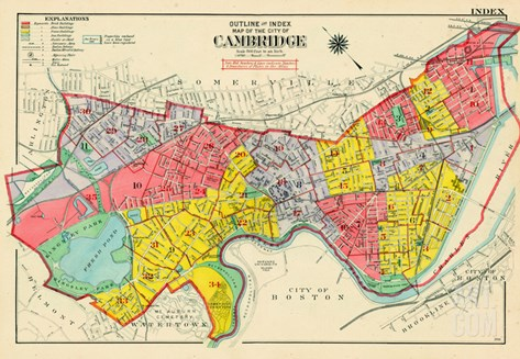 1916, Cambridge, Massachusetts, United States Stretched Canvas Print