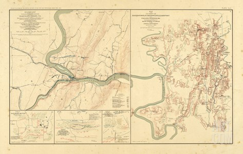 1891, Maryland, Virginia, Civil War Stretched Canvas Print
