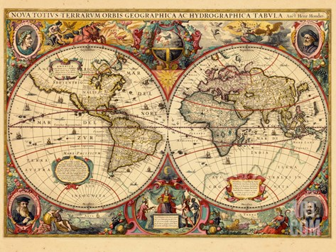 1633, World Stretched Canvas Print