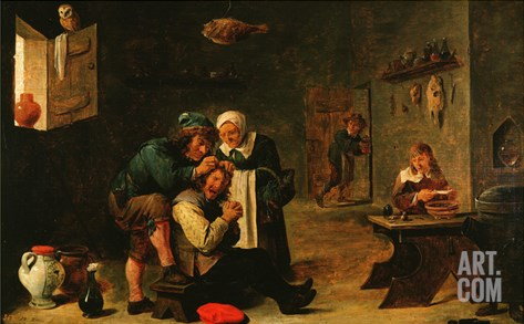 Surgical Operation, 17th Century Stretched Canvas Print