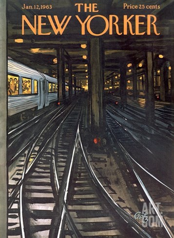 The New Yorker Cover - January 12, 1963 Stretched Canvas Print