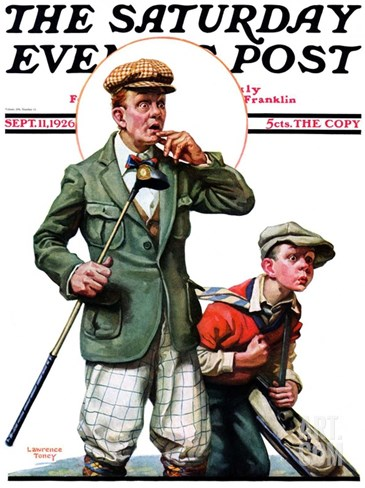 """Hole in One,"" Saturday Evening Post Cover, September 11, 1926 Stretched Canvas Print"