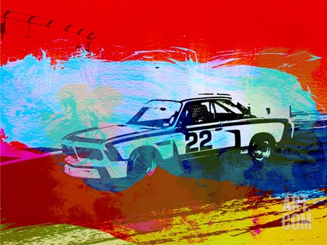 Bmw 3.0 Csl Racing Stretched Canvas Print