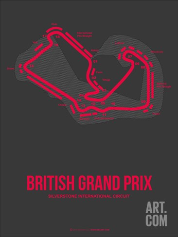 British Grand Prix 2 Stretched Canvas Print