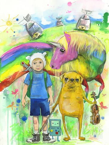 Adventure Time Stretched Canvas Print
