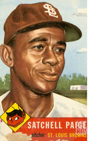 Topps Satchell Paige Baseball Card. 1953; Archives Center, NMAH Stretched Canvas Print