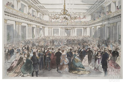 Smithsonian Libraries: The Inauguration Reception Stretched Canvas Print