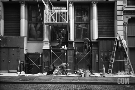 Soho Construction Stretched Canvas Print