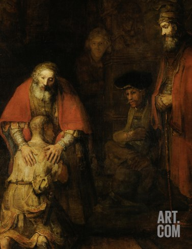 Return of the Prodigal Son, c. 1669 Stretched Canvas Print