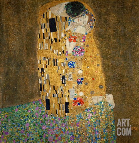 The Kiss, c.1907 Stretched Canvas Print