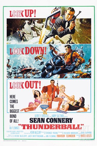 THUNDERBALL, US poster, Sean Connery, 1965 Stretched Canvas Print